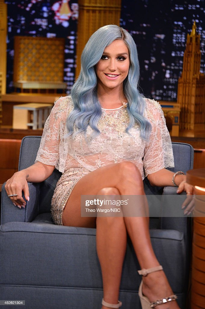 Kesha visits 'The Tonight Show Starring Jimmy Fallon' at Rockefeller Center on July 24 2014 in New York City