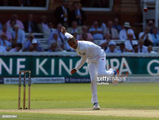 Keshav Maharaj of South Africa during 1st Investec Test Match between England and South Africa at Lord's Cricket Ground in London on July 06 2017