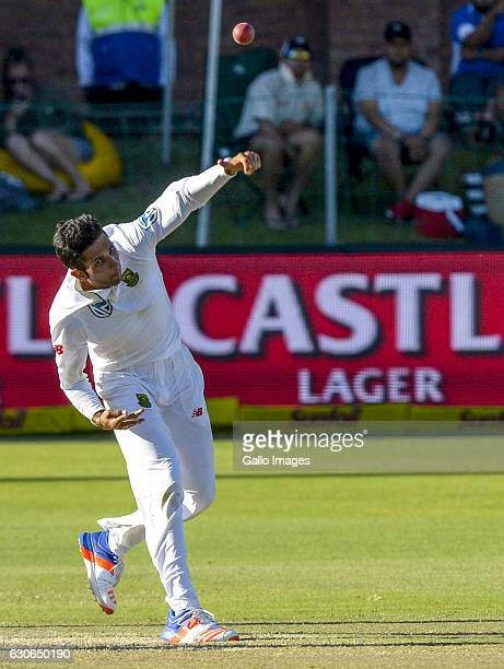 Keshav Maharaj of South Africa during day 4 of the 1st Test match between South Africa and Sri Lanka at St George's Park on December 29 2016 in Port...