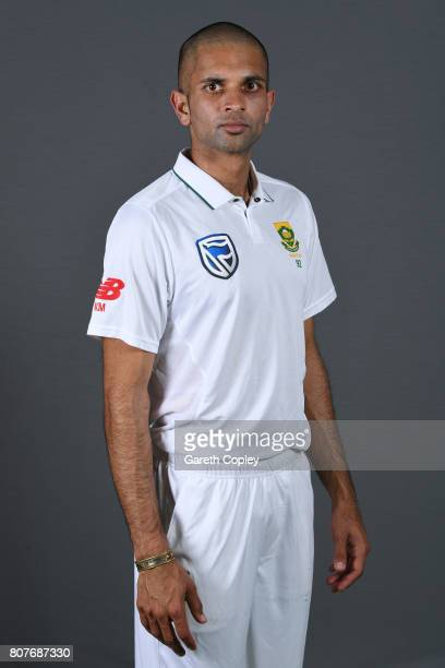Keshav Maharaj of South Africa poses for a portrait at Lord's Cricket Ground on July 4 2017 in London England