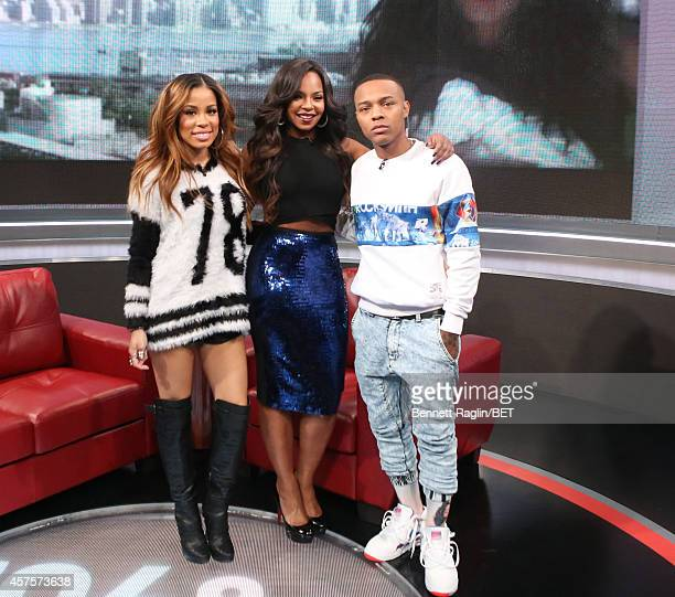 Keshia Chante Ashanti and Shad Moss attend 106 Park at BET studio on October 20 2014 in New York City
