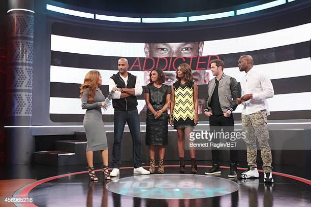 Keshia Chante Boris Kodjoe Sharon Leal Tasha Smith William Levy and Tyson Beckford attend 106 Park at BET studio on October 8 2014 in New York City