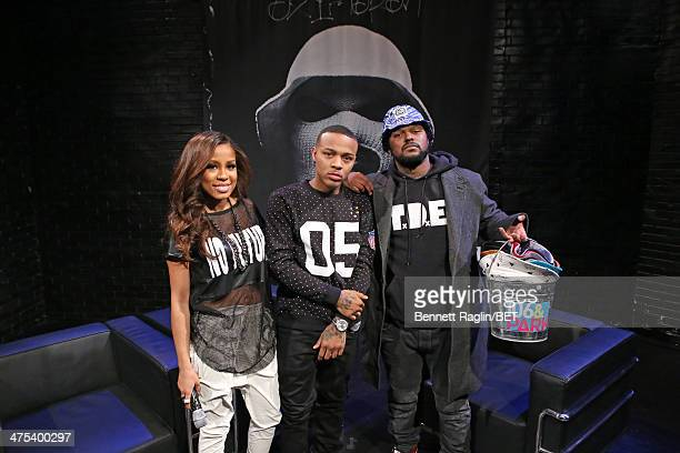 Keshia Chante Bow Wow and Schoolboy Q attend 106 Park at BET studio on February 27 2014 in New York City
