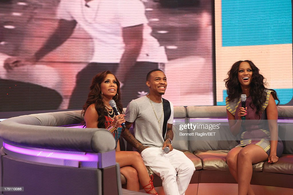 Keshia Chante, Bow Wow, and Tyra Banks attend BET's '106 & Park' at BET Studios on July 31, 2013 in New York City.