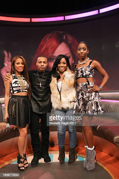 Keshia Chante Bow Wow K Michelle and Sevyn Streeter pose for a picture during 106 Park at 106 Park studio on October 8 2013 in New York City
