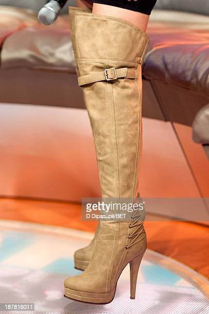 Keshia Chante hosts BET's '106 Park' at BET Studios on November 12 2013 in New York City