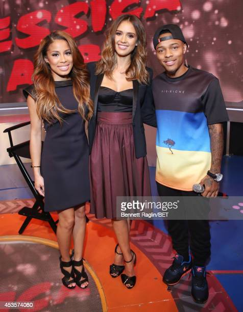 Keshia Chante Jessica Alba and Shad Moss attend 106 Park at BET studio on August 13 2014 in New York City