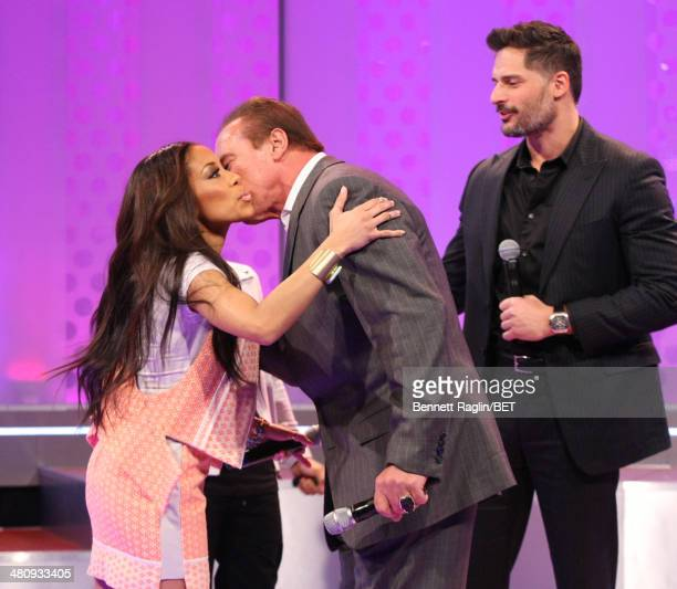 Keshia Chante Joe Manganiello Arnold Schwarzenegger and Bow Wow attend 106 Park at BET studio on March 25 2014 in New York City