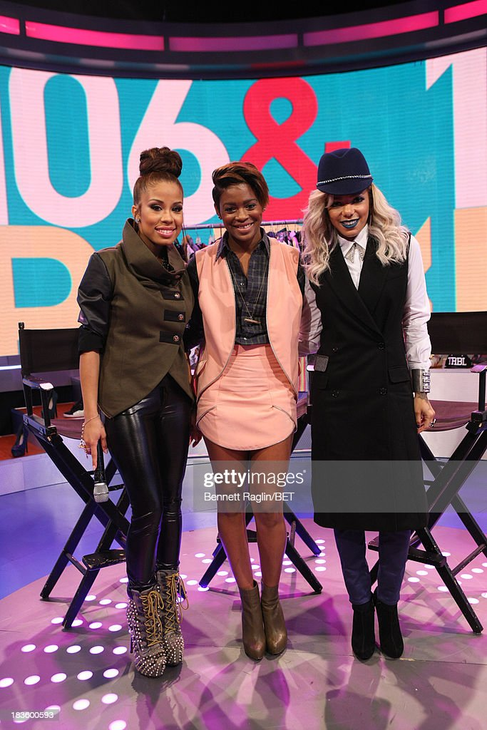 Keshia Chante, Sonjia Williams, and Po Johnson attend 106 & Park at 106 & Park studio on October 7, 2013 in New York City.