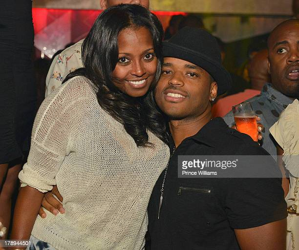 Keshia Knight Pulliam and Larenz Tate attend LudaDay Weekend Kickoff Hosted By Ludacris at Prive on August 30 2013 in Atlanta Georgia