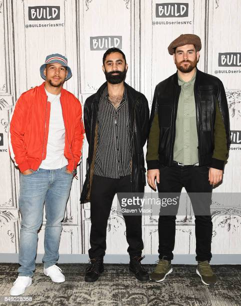 Kesi Dryden Amir Amor and Piers Agget of band Rudimental visit Build to discuss their goldselling single 'Sun Comes Up' at Build Studio on September...
