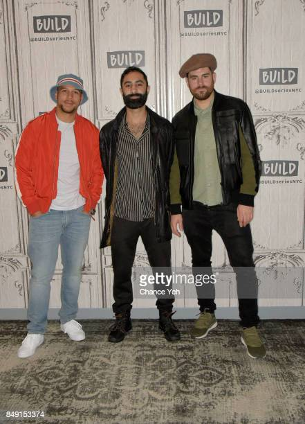 Kesi Dryden Amir Amor and Piers Agget of Rudimental attend Build series to discuss the single 'Sun Comes Up' at Build Studio on September 18 2017 in...