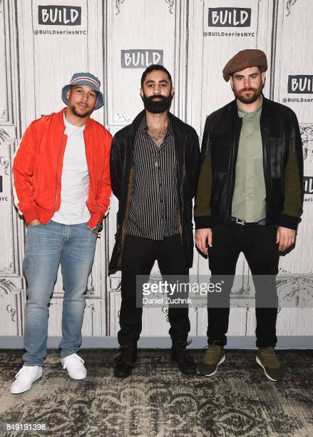 Kesi Dryden Amir Amor and Piers Agget of Rudimental attend the Build Series to discuss the single 'Sun Comes Up' at Build Studio on September 18 2017...