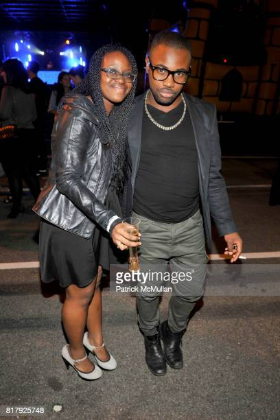 Kesi Onosigho and Joseph Whittingham attend ALEXANDER WANG After Party at Edison Parking Lot on September 11 2010 in New York City
