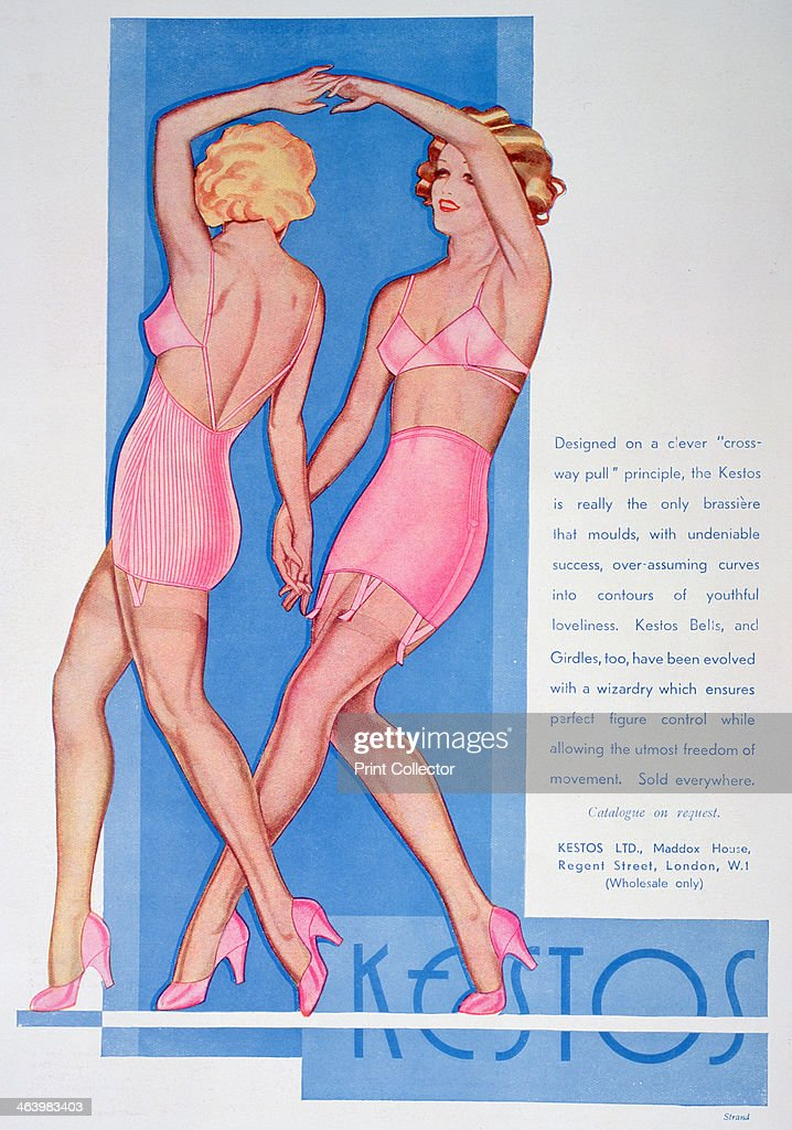 Kestos lingerie advert 1935 A print from The Bystander 15th May 1935