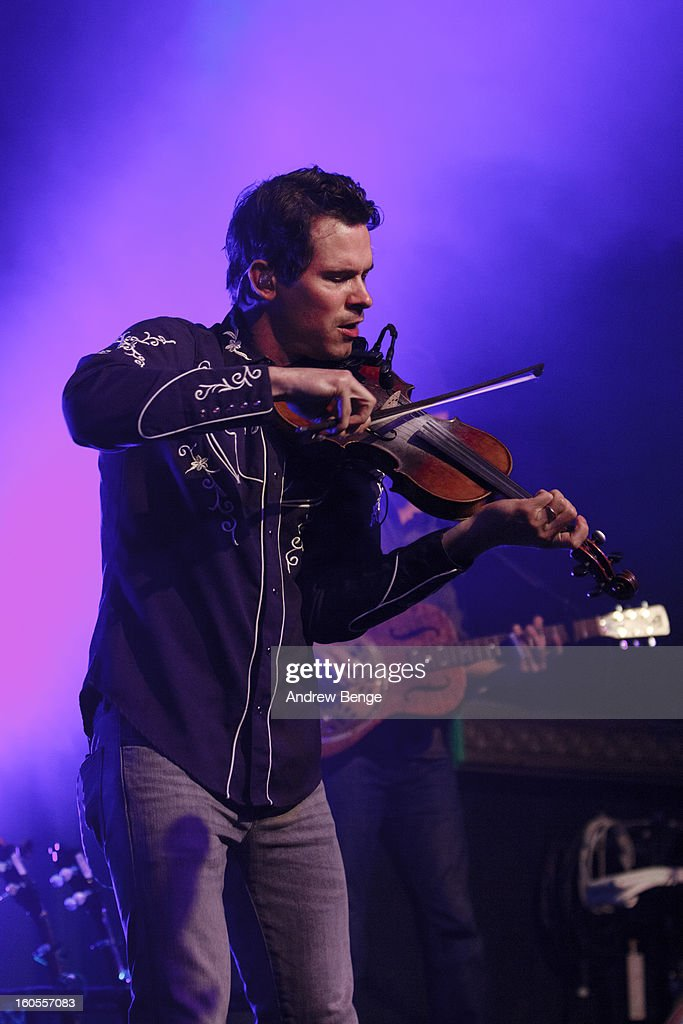 Ketch Secor of Old Crow Medicine Show performs on stage at HMV Ritz on February 2, 2013 in Manchester, England.