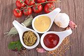 ketchup,mayo and mustard