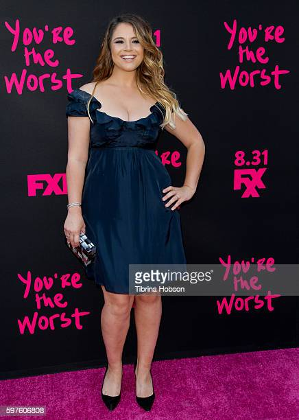 Kether Donohue attends the premiere of FXX's 'You're The Worst' season 3 on August 28 2016 in Los Angeles California