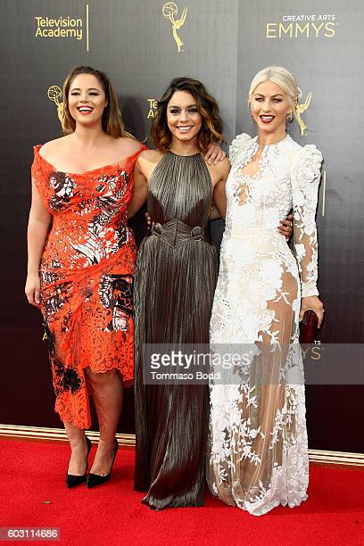 Kether Donohue Vanessa Hudgens and Julianne Hough attend the 2016 Creative Arts Emmy Awards held at Microsoft Theater on September 11 2016 in Los...
