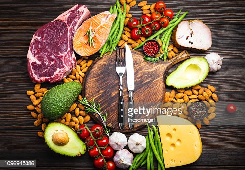 Keto diet foods : Stock Photo
