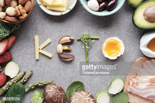Keto, Ketogenic diet, low carb, healthy food : Stock Photo
