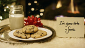 """Ketogenic Christmas: Santa Politely Refuses Milk and Cookies with a """"I've Gone Keto"""" Note by the Fireplace on Christmas Eve"""