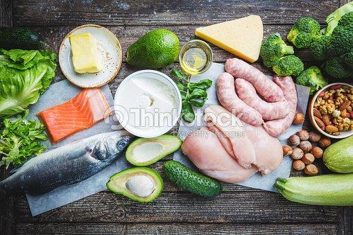 Ketogenic diet concept : Stock Photo