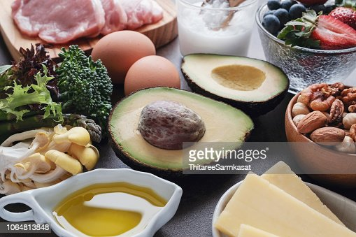 Ketogenic diet ,low carb, high fat, healthy food : Stock Photo