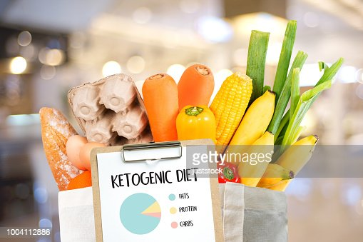 Ketogenic diet  Organic grocery vegetables Healthy low carbs : Stock Photo