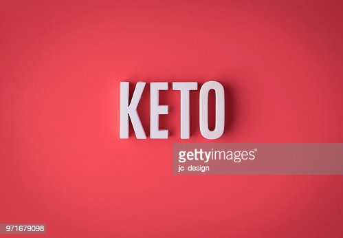Ketogenic KETO lettering sign made : Stock Photo