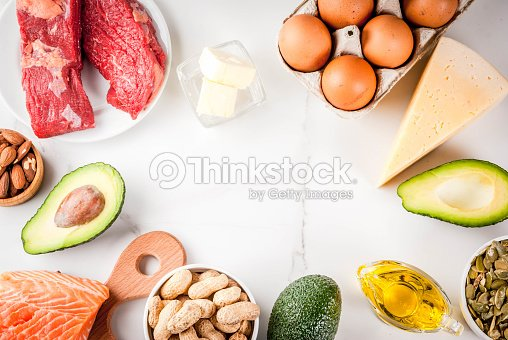 Ketogenic low carbs diet ingredients : Stock Photo