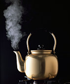 Kettle with steam