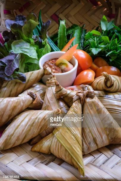 Ketupat with sambal ulam