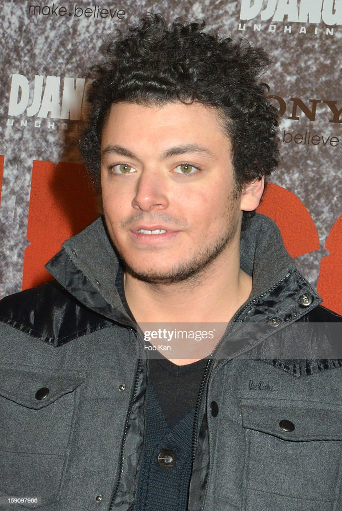 <a gi-track='captionPersonalityLinkClicked' href=/galleries/search?phrase=Kev+Adams&family=editorial&specificpeople=8192242 ng-click='$event.stopPropagation()'>Kev Adams</a> attends the 'Django Unchained' Paris premiere red carpet arrival at Le Grand Rex on January 7, 2013 in Paris, France.