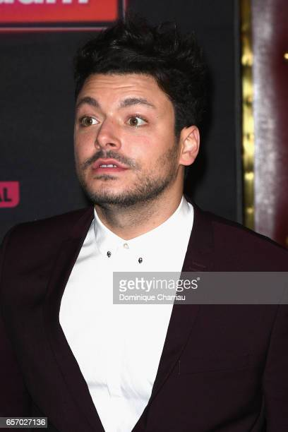 Kev Adams attends the Gangsterdam Paris Premiere at Le Grand Rex on March 23 2017 i