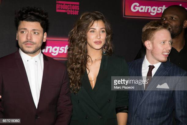 Kev Adams Manon Azem and Come Levin attend the 'Gangsterdam' Premiere at Le Grand Rex on March 23 2017 in Paris France