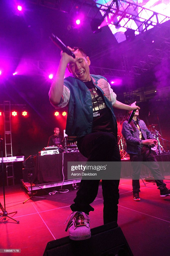 Kev Nish of the Far East Movement attends at Marlins Park on November 16, 2012 in Miami, Florida.