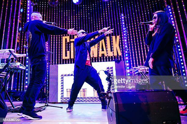Kev Nish Prohgress and JSplif of Far East Movement perform at Universal CityWalk's Free Summer 'Music Spotlight Series' at 5 Towers Outdoor Concert...