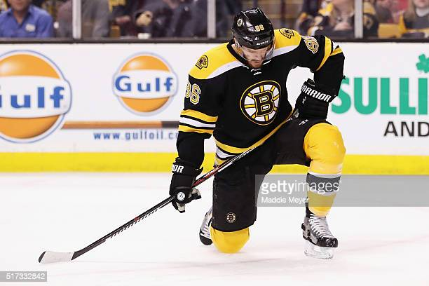 Kevan Miller of the Boston Bruins reacts during the second period against the Florida Panthers at TD Garden on March 24 2016 in Boston Massachusetts