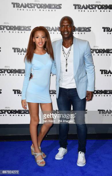 Kevin Adams and daughter Avia arriving for Transformers The Last Knight World Premiere held at Cineworld Leicester Square in London