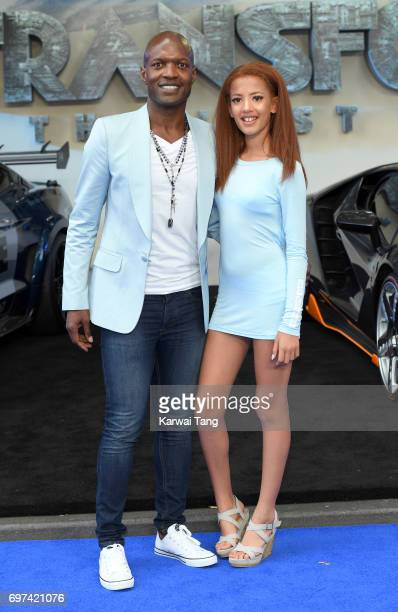 Kevin Adams and daughter Avia attend the global premiere of 'Transformers The Last Knight' at Cineworld Leicester Square on June 18 2017 in London...