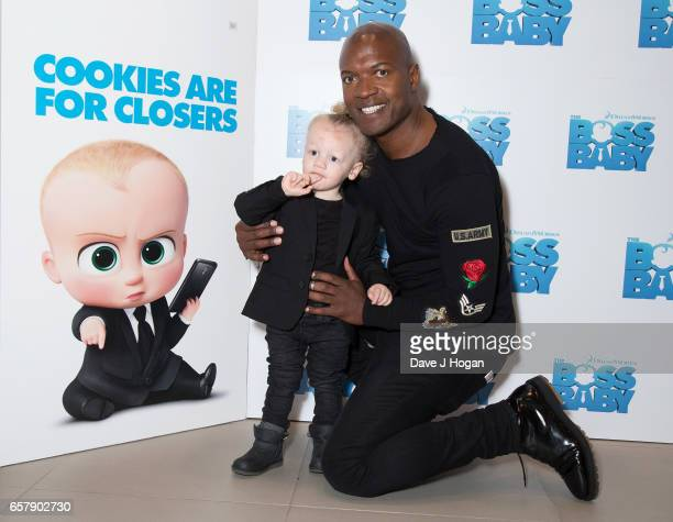 Kevin Adams and nephew attends The Boss Baby Multimedia ScreeningVIP Arrivals at the Vue Westfield London on March 26 2017 in London England