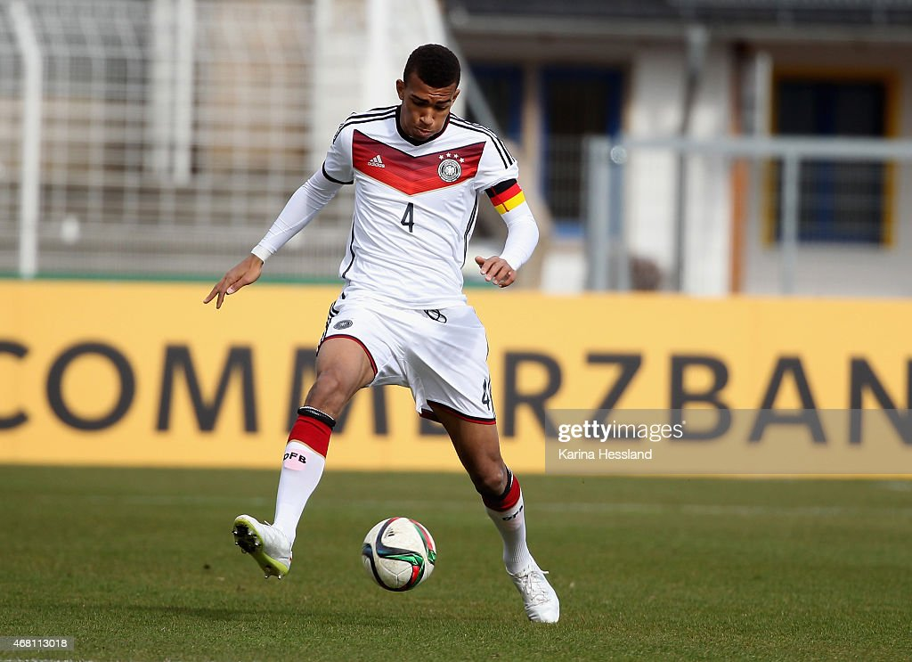 Kevin Akpoguma of Germany during the International Friendly match between U20 Germany and U20 Poland at ErnstAbbeSportfeld on March 27 2015 in Jena...