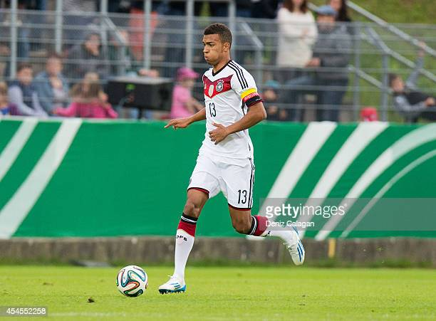 Kevin Akpoguma of Germany in action during the international friendly match between U20 Germany and U20 Italy on September 3 2014 in Elversberg...