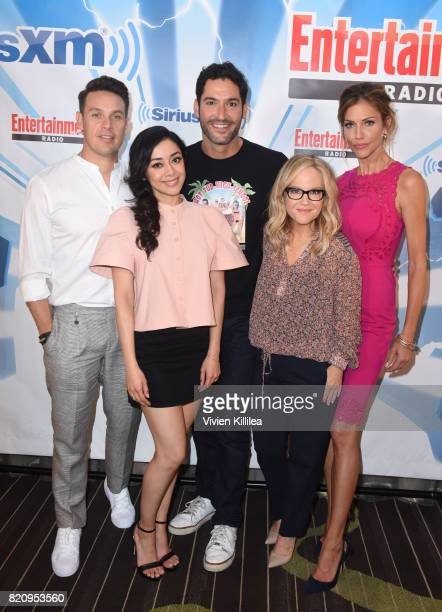 Kevin Alejandro Aimee Garcia Tom Ellis Rachael Harris and Tricia Helfer attend SiriusXM's Entertainment Weekly Radio Channel Broadcasts From Comic...
