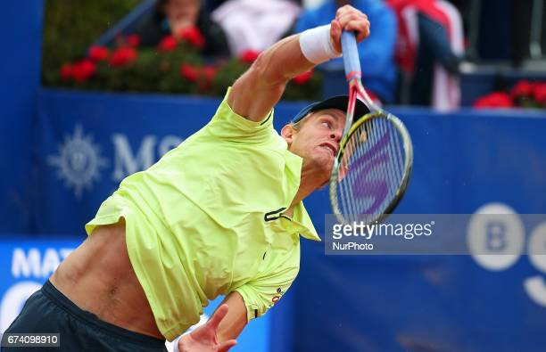 Kevin Anderson during the match against Rafa Nadal corresponding to the Barcelona Open Banc Sabadell on April 27 2017
