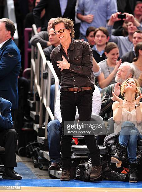 Kevin Bacon and Kyra Sedgwick attend the Boston Celtics vs New York Knicks game at Madison Square Garden on March 21 2011 in New York City