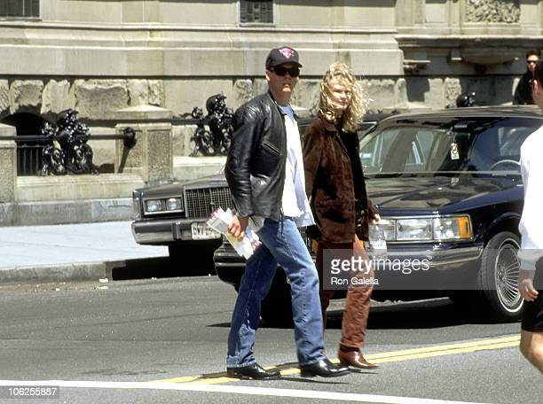 Kevin Bacon and Kyra Sedgwick during Kevin Bacon and Kyra Sedgwick Sighting Walking Around Central Park May 4 1997 at Central Park in New York City...
