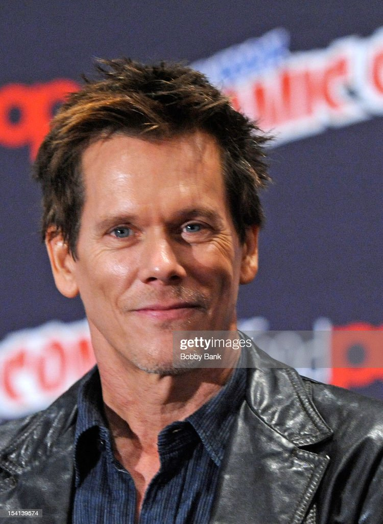 <a gi-track='captionPersonalityLinkClicked' href=/galleries/search?phrase=Kevin+Bacon&family=editorial&specificpeople=202000 ng-click='$event.stopPropagation()'>Kevin Bacon</a> attends the 'The Following Pilot Screening and Q & A' at the 2012 New York Comic Con at the Javits Center on October 14, 2012 in New York City.