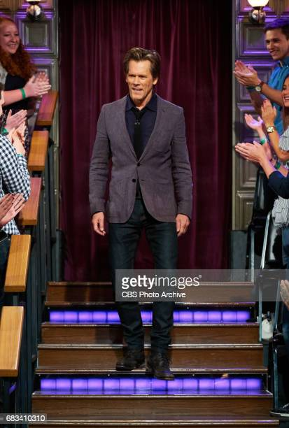 Kevin Bacon greets the audience during 'The Late Late Show with James Corden' Thursday May 11 2017 On The CBS Television Network